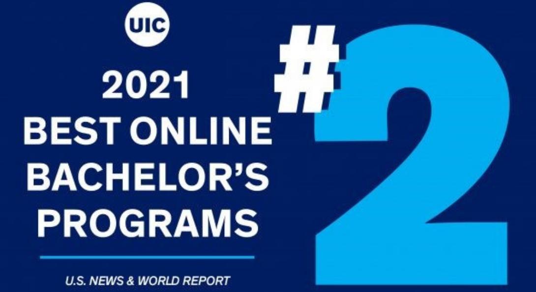 UIC Ranked No. 2 in Best Online Bachelor's Programs